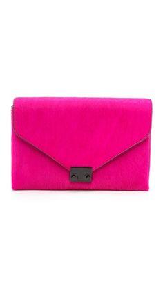 loeffler randall pink clutch //