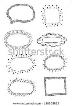 Hand drawn frames  -  #DRAW #ZENTANGLE #TANGLE #DOODLE #STRINGS #VORLAGEN