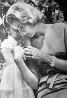 Princess Grace of Monaco & her daughter