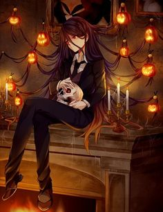Imagen de anime, Halloween, and candle