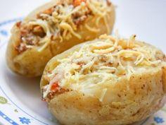 Batata Recheada com Carne Moída