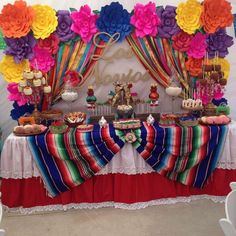 all white party Fiesta / Mexican Bridal/Wedding Shower Party Ideas Mexican Birthday Parties, Mexican Fiesta Party, Fiesta Theme Party, Party Themes, Party Ideas, Mexico Party Theme, Mexican Candy Bar, Mexican Themed Weddings, Mexican Party Decorations
