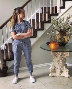 artysmed looking fierce ad work ready in her slip-resistant Karina's. Cute Nursing Scrubs, Cute Scrubs, Scrubs Outfit, Scrubs Uniform, Nursing Shoes, Nursing Clothes, Nurse Aesthetic, Doctor Coat, Womens Scrubs