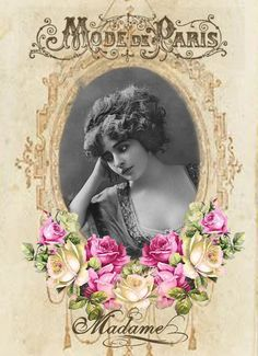Vintage woman- digital collage  P1022  Free to use <3