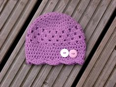 Crochet Baby hat with Buttons Crochet Baby Summer by KiransWorld