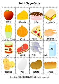Check Out This Great Article About Carpet Cleaning Bingo For Kids, Flashcards For Kids, Food Flashcards, English Lessons For Kids, Kids English, Food Vocabulary, English Vocabulary, Healthy And Unhealthy Food, English Games