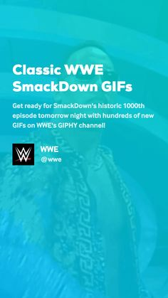 Get ready for SmackDown's historic episode tomorrow night with hundreds of new GIFs on WWE's GIPHY channel! Wwe Gifs, Lol, Videos, Classic, Funny, Derby, Funny Parenting, Classic Books, Hilarious