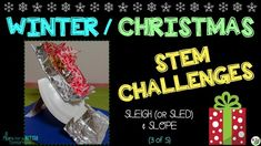 Christmas / Winter STEM Challenges are a great way to keep students engaged, thinking critically, and working on hands-on problem solving at a time it's often a struggle to concentrate! This is challenge 3 of 5: Sleigh/Sled & Slope, in which students create a ramp and sled designed to keep cargo safe and travel the maximum distance.