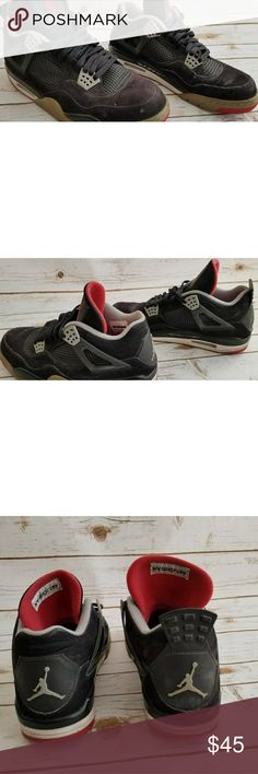 Jordan retro 4 Used pair of retro 4's need to be reconditioned sold as is Jordan Shoes Athletic Shoes