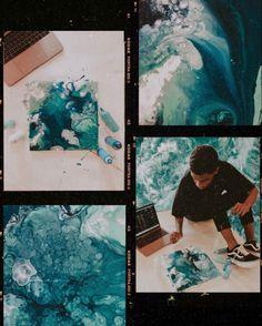 Annie's ocean inspired art - SurfGirl Magazine Design Poster, Art Design, Kunst Inspo, Art Inspo, Kodak Film, Frame Template, Templates, Instagram Frame, Eye Art
