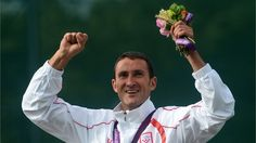 Gold medallist Giovanni Cernogoraz of Croatia celebrates