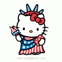 4th of july hello kitty pictures