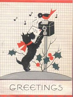 Vintage Scottie card.