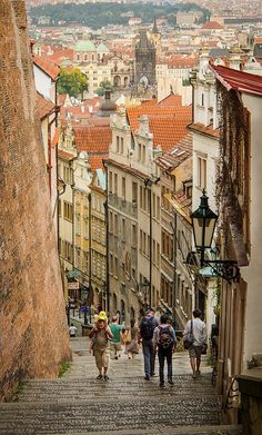 the old castle stairs in prague