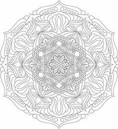 Mandala nr 10 for coloring