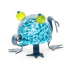 Lizzy: 24-11-62 in Blue, Hand-Blown Art Glass by Borowski Glass Studio