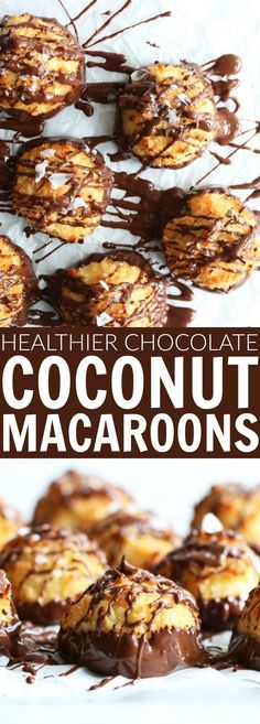 You will die over these healthier Chocolate Dipped Coconut Macaroons!! So fluffy and dense and perfectly delicious! They're refined sugar free, low glycemic, gluten free, and paleo friendly!! thetoastedpinenut.com #sugarfree #glutenfree #paleo #chocolatedipped #macaroons #thetoastedpinenut