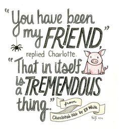 harpercollinschildrens:  A quote from Charlotte's Web by E.B. White! Image via bookibookibooki