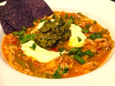 Roasted Hatch Chili, Chicken Tortilla Soup