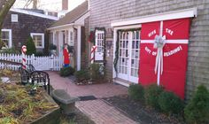 """Titcomb's Bookshop in Sandwich, MA on Cape Cod is """"wrapped up"""" and ready for Christmas!"""