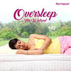 #Springwel wishes you a happy kickstart to the weekend. Oversleep this weekend on a plush Springwel #mattress for a fresh start to your Monday.