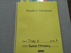 reader's notebook grades 3-12