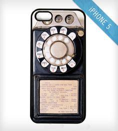 Social tech: Vintage Pay Phone iPhone Case.