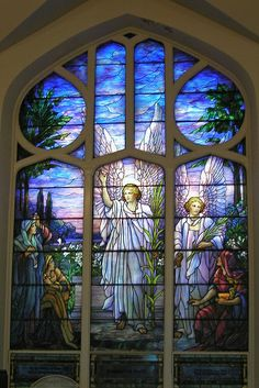This is an original Tiffany window, signed by Tiffany himself. I haven't been able to find much information about it, but it is breath taking. It can be found in the College Hill Presbyterian Church in Easton, PA.