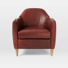 West Elm offers modern furniture and home decor featuring inspiring designs and colors. Create a stylish space with home accessories from West Elm. Leather Club Chairs, Barrel Chair, Living Room Chairs, Tub Chair, Living Room Designs, Home Accessories, Modern Furniture, Accent Chairs, Sweet Home
