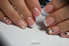 Fall Nail Designs - My Cool Nail Designs French Nails, French Pedicure, Cute Acrylic Nails, Cute Nails, Pretty Nails, Nails Now, My Nails, Perfect Nails, Gorgeous Nails