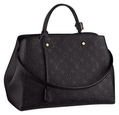 Louis Vuitton Brand New Montaigne Empriente Gm Noir (never Carried) Black Satchel.