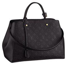 Louis Vuitton Brand New Montaigne Empriente Gm Noir (never Carried) Black Satchel.