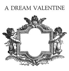 Vintage Valentine's Day Clip Art - Ornate Graphic Frame - The Graphics Fairy