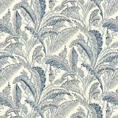 Sanabelle Indigo Floral Linen Drapery Fabric by Kravet - Drapery Fabrics at Buy Fabrics