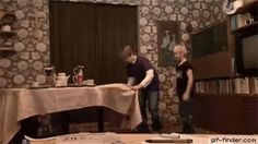 Pulling table cloth trick fail | Gif Finder – Find and Share funny animated gifs