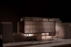 BIBLIOTECA PÚBLICA A TARRAGONA   Arquitectura Architecture Model Making, Architecture Concept Drawings, School Architecture, Architecture Plan, Amazing Architecture, Landscape Architecture, Interior Architecture, Arch Model, Exhibition Display