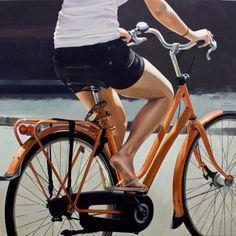 As pinturas de Marc Figueiras impressionam pelo realismo. O trabalho do jovem artista apresenta a vida urbana nas ruas e retrata pessoas de Barcelona.