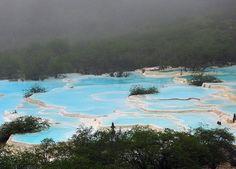 Naturally colourful pools, Huanglong National Park - Cowboy6688 Flickr: