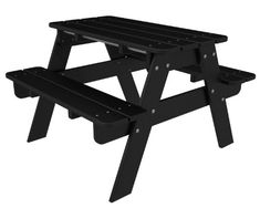 Polywood Kt130bl Kids Picnic Table, Black, 2015 Amazon Top Rated Picnic Tables #Lawn&Patio