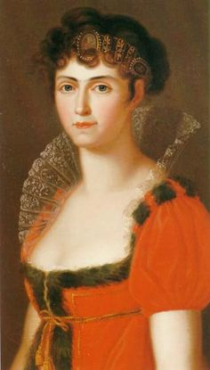 Friederike Karoline Wilhelmine of Baden (1776-1841), daughter of Karl of Baden and his wife Amalie of Hesse-Darmstadt. She was married to Maximilian I Joseph of Bavaria and they had 7 children.
