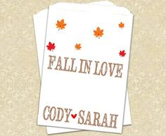 Fall Wedding Favor Bags Autumn Wedding Favors by prettypaperparlor, $12.50