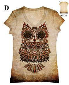Items similar to woman extra-large extended adult big and plus size Owl all-over print top, t shirt and tank xxs - plus size on Etsy Ethnic Fashion, Curvy Fashion, Plus Size Fashion, Plus Size T Shirts, Plus Size Tops, T Shirt Designs, Owl Clothes, Owl Shirt, T Shirts For Women