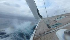 Dramatic image of powerful @royalhuisman built performance #yacht under sail... we're looking forward to seeing her back on the #race circuit as #SYSpiip... #RiggingInPalma www.rsb-rigging.com