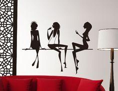vinilo para decoración de paredes en peluquerías, centro de estética y belleza