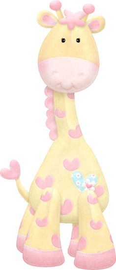 Giraffe I think I can draw it Clipart Baby, Cute Clipart, Cute Images, Cute Pictures, Tatty Teddy, Baby Art, Baby Kind, Cute Illustration, Paper Piecing