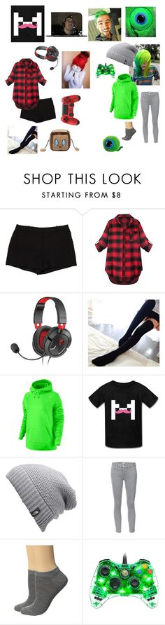 """""""Female MARKIPLIER and JACKSEPTICEYE"""" by cuteemogirlnight ❤ liked on Polyvore featuring L'Agence, Valerie, NIKE, The North Face, Mother and Falke"""