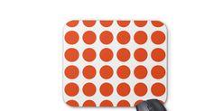 Orange Polka Dots Mousepad