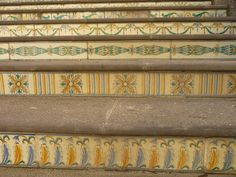 Mosaic stairs in Vizzini, Sicily