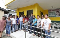 Leyte (1st Dist) Rep. Yedda Marie K. Romualdez (center) inaugurates and turns over a new Barangay Multi-Purpose Hall worth P2 Million to Brgy. Baras  Palo, Leyte Chairwoman Ermina Coritana (right), with them are other barangay officials. Photo by Ver Noveno Leyte (1st Dist) Rep. Yedda Marie K. Romualdez (center) inaugurates and turns over a new [ ]