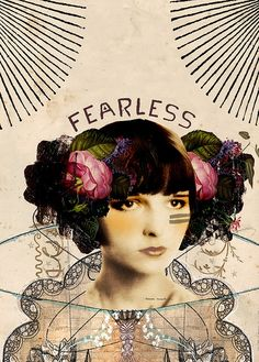 Fearless, mixed media illustration by Anahata Katkin